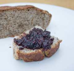 buckwheat bread with blackberry and apple coconut jam small